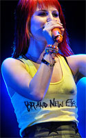 Hayley Williams Brand New Eyes sharpie t-shirt