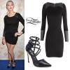Taylor Momsen: Leather Panel Dress, Studded Heels