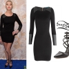 Taylor Momsen: Leather Panel Dress, Studded Heels