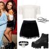 Jesy Nelson: Lace Crop Top, Velvet Shorts