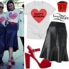 Katy Perry: 'Nasty Woman' Tee, Leather Skirt