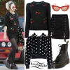 Miley Cyrus: Cherry Sweater, Platform Boots