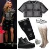 Miley Cyrus: Bandana Crop Top, Bike Shorts