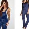 Allison Green: Blue Houndstooth Overalls