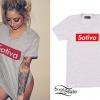 Allison Green: Gray 'Sativa' T-Shirt