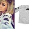 Allison Green: White Long Sleeve Top