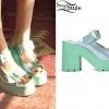 Brandi Cyrus: Green Platform Sandals