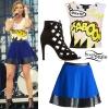 Cassadee Pope: Comic Crop Top Outfit