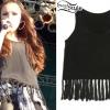 Cher Lloyd: Tassel Tank Top