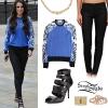 Cher Lloyd: Printed Sweatshirt, Coated Jeans