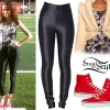 Cher Lloyd: Smoke Print Tank, Disco Pants