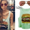Christina Perri: Hamburger Tank Top