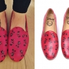 Christina Perri: Red Minnie Mouse Loafers