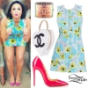 Demi Lovato: Printed Terrycloth Dress
