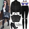 Demi Lovato: Bomber Jacket, Ripped Jeans