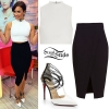 Demi Lovato: Sport Jacket, BLack Capri Leggings