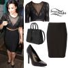 Demi Lovato: Mesh Cropped Tee, Bandage Skirt