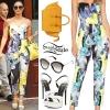Demi Lovato: Floral Jumpsuit, White Sandals