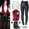 Demi Lovato: Sequin Varsity Jacket, Disco Pants