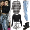 Demi Lovato: Black Crop Top, Destroyed Jeans