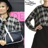 Demi Lovato: Plaid Sweatshirt
