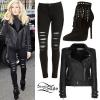 Ellie Goulding: Biker Jacket, Fringe Boots