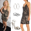 Ellie Goulding: Sequin Dress, Silver Sandals