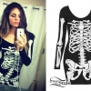 Jahan Yousaf: Skeleton Bodycon Dress