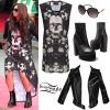 Jesy Nelson: Skull Dress, Leather Jacket