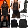 Jesy Nelson: Mesh T-Shirt Dress Outfit