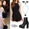 Jesy Nelson: Black Romper Outfit