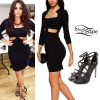 Jesy Nelson: T-Shirt Dress, Black Boots