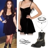 Jesy Nelson: Velvet Dress, Chain Boots