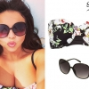 Jesy Nelson: Floral Bikini, Black Sunglasses