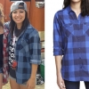 Jess Bowen: Blue Check Long Sleeve Shirt