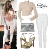 Juliet Simms: Sheer Blouse, White Jeans