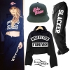 Juliet Simms: Cropped Sweatshirt & Sweatpants