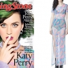 Katy Perry: Rainbow Marble Print Dress