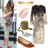Katy Perry: Tie-Dye Dress, Cognac Flats