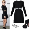 Ke$ha: Sheer-Panel Dress Outfit