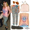 Kesha: Geometric Tank, Eye Print Pants