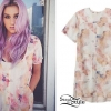 Kesha: Floral Print Shift Dress