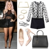 Kesha: Polka Dot Playsuit Outfit