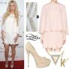 Kesha: White Scalloped Dress
