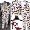 Kesha: Floral Dress, Silver Sandals
