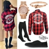 Melissa Marie Green: Red Check Shirt Outfit