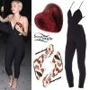 Miley Cyrus: Black Stretch Jumpsuit