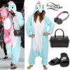 Miley Cyrus: Unicorn Onesie Outfit