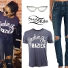 Rihanna: Graphic Tee, Ripped Jeans