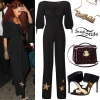 Rihanna: Leather Jacket, Ripped Jeans